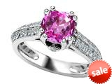 Original Star K™ Round Created Pink Sapphire Engagement Ring style: 308816