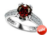 Original Star K™ Round Simulated Garnet Engagement Ring style: 308817