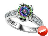 Original Star K™ Round Rainbow Mystic Topaz Engagement Ring style: 308819