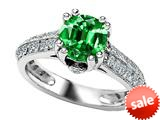 Original Star K™ Round Simulated Emerald Engagement Ring style: 308820