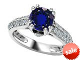 Original Star K™ Round Created Sapphire Engagement Ring style: 308822