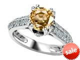 Original Star K™ Round Simulated Citrine Engagement Ring style: 308824
