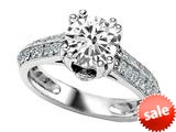 Original Star K™ Round Genuine White Topaz Engagement Ring style: 308825