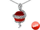Original Star K™ Large Snake Pendant with 10mm Simulated Ruby Ball style: 308828