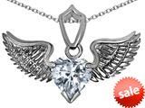 Original Star K™ Wing of Love Pendant with 8mm Heart Shape Genuine White Topaz style: 308871