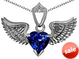 Original Star K™ Wing of Love Pendant with 8mm Heart Shape Created Sapphire style: 308873