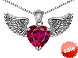 Original Star K™ Wing of Love Pendant with 8mm Heart Shape Created Ruby style: 308884