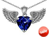 Original Star K™ Wing of Love Pendant with 8mm Heart Shape Created Sapphire style: 308886