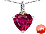 Original Star K™ Rope Heart Pendant with 10mm Heart Shape Created Ruby style: 308889
