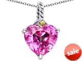 Original Star K™ Rope Heart Pendant with 10mm Heart Shape Created Pink Sapphire style: 308890