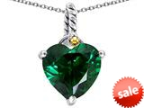 Original Star K™ Rope Heart Pendant with 10mm Heart Shape Simulated Emerald style: 308891