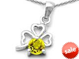 Celtic Love by Kelly™ Round Simulated Yellow Sapphire Lucky Clover Pendant style: 308894