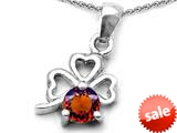 Celtic Love by Kelly™ Round Simulated Garnet Lucky Clover Pendant style: 308901