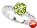 Original Star K™ Round 7mm Simulated Peridot Engagement Ring style: 308936