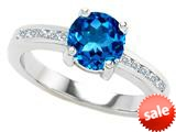 Original Star K™ Round 7mm Simulated Blue Topaz Engagement Ring style: 308937
