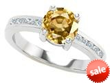 Original Star K™ Round 7mm Simulated Citrine Engagement Ring style: 308938