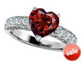 Original Star K™ 8mm Heart Shape Simulated Garnet Engagement Ring style: 308939