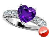 Original Star K™ 8mm Heart Shape Simulated Amethyst Engagement Ring style: 308942