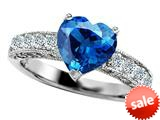 Original Star K™ 8mm Heart Shape Simulated Blue Topaz Engagement Ring style: 308943