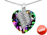 Original Star K™ Large 15mm Heart Shape Rainbow Mystic Topaz Soul Mate Pendant style: 308954