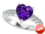 Original Star K™ 8mm Heart Shape Simulated Amethyst Engagement Ring style: 308957