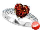 Original Star K™ 8mm Heart Shape Simulated Garnet Engagement Ring style: 308958