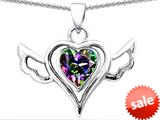 Original Star K™ Wings Of Love Pendant with Heart Shape Rainbow Mystic Topaz style: 308961