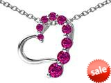 Original Star K™ Journey of Love Heart Pendant with Round Created Ruby style: 308980