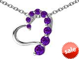 Original Star K™ Journey of Love Heart Pendant with Round Simulated Amethyst style: 308983
