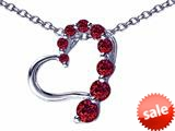 Original Star K™ Journey of Love Heart Pendant with Round Simulated Garnet style: 308989