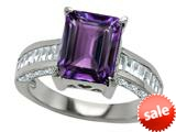 Original Star K™ 10x8mm Emerald Cut Simulated Amethyst Engagement Ring style: 308999