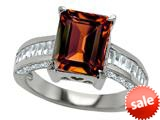 Original Star K™ 10x8mm Emerald Cut Simulated Garnet Engagement Ring style: 309001