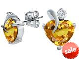 Original Star K™ 8mm Heart Shape Simulated Citrine Heart Earrings style: 309005