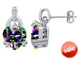 Original Star K™ Heart Shape Rainbow Mystic Topaz Designer Hanging Drop Earrings style: 309036