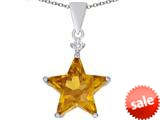 Original Star K™ Large 14mm Fancy Star Pendant with Simulated Imperial Yellow Topaz style: 309044