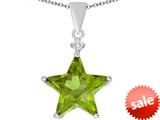 Original Star K™ Large 14mm Fancy Star Pendant with Simulated Peridot style: 309045