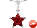 Original Star K™ Large 14mm Fancy Star Pendant with Simulated Garnet style: 309047