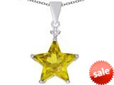 Original Star K™ Large 14mm Fancy Star Pendant with Simulated Citrine style: 309050