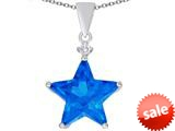 Original Star K™ Large 14mm Fancy Star Pendant with Simulated Blue Topaz style: 309051