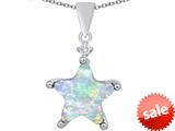 Original Star K™ Large 14mm Fancy Star Pendant with Created Opal style: 309054