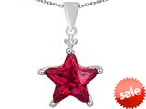 Original Star K™ Large 14mm Fancy Star Pendant with Created Ruby style: 309056