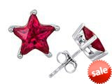 Original Star K™ Fancy Star Cut Earrings Studs with Created Ruby style: 309064