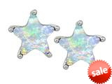 Original Star K™ Fancy Star Cut Earrings Studs with Created Opal style: 309066