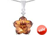 Original Star K™ Large 14mm Flower Shape Star Pendant with Simulated Imperial Yellow Topaz style: 309074
