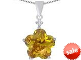 Original Star K™ Large 14mm Flower Shape Star Pendant with Simulated Citrine style: 309079