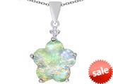 Original Star K™ Large 14mm Flower Shape Star Pendant with Created Opal style: 309086