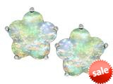 Original Star K™ Fancy Flower Shape Star Earrings Studs with Created Opal style: 309099