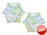 Original Star K™ Fancy Octagon Cut Earrings Studs with Created Opal style: 309103
