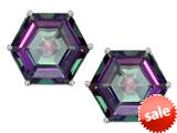 Original Star K™ Fancy Octagon Cut Earrings Studs with Rainbow Mystic Topaz style: 309104