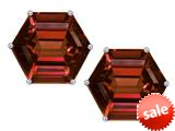 Original Star K™ Fancy Octagon Cut Earrings Studs with Simulated Garnet style: 309111